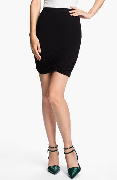 T by Alexander Wang Twisted Hem Skirt available at #Nordstrom