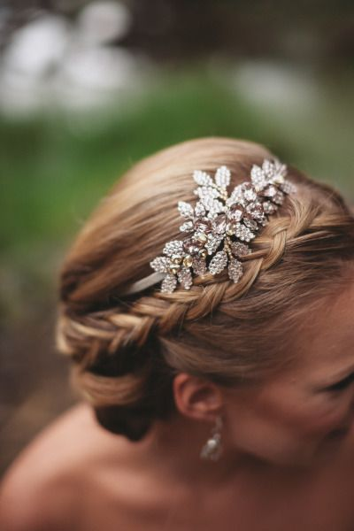 Crown-braided chignon…