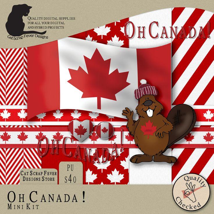 Oh Canada! mini kit by Cat Scrap Fever