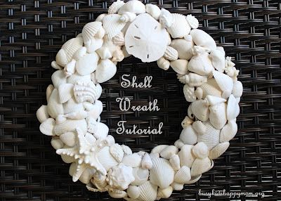 Craft Time: Shell Wreath Tutorial - Busy Kids=Happy Mom