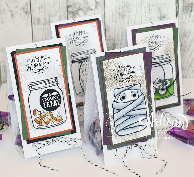 Jar of Haunts, Touches of Texture, Fancy Frost Specialty DSP, Halloween, giftbag, giftbag tutorial ~Inge Groot