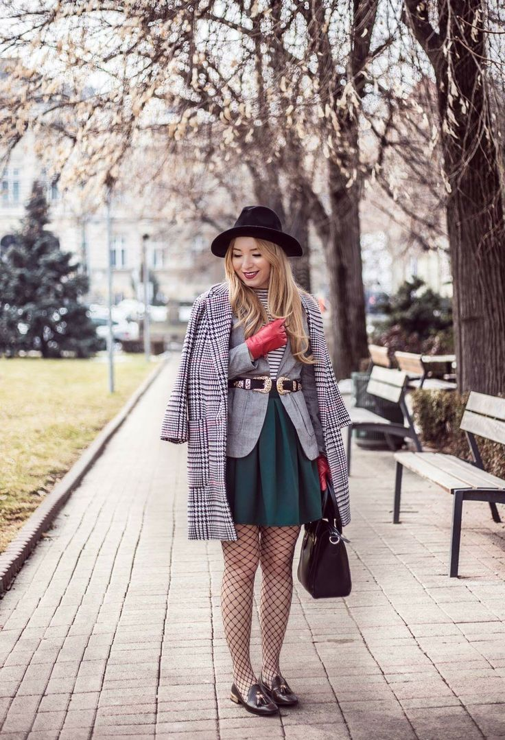 Winter fashion outfit photography