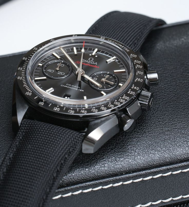 Omega Speedmaster Co-Axial Chronograph Dark Side Of The Moon Black Ceramic #watch #omega - nice watches men, watch men, mens watches uk *ad