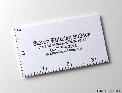 73 best business cards images on pinterest business cards carte this is a cool minimal business card design from steven whiteley a builder from philadelphia us colourmoves