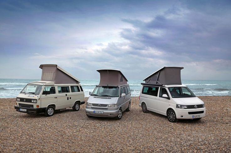 Three generations of camper editions: the VW California campers first began in 1989, based on the T3. This is the most versatile camper I have ever seen in the market. Very cool, legendary and all that you need while on the road.
