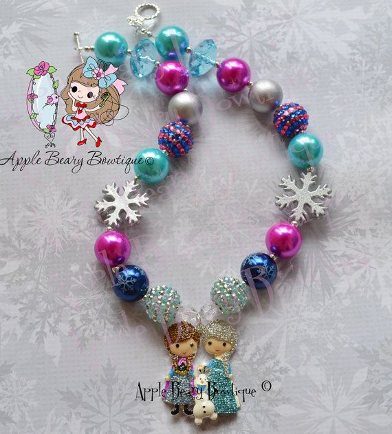 Frozen Necklace Anna Elsa Necklace Snowflake Necklace Frozen