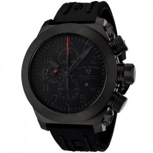 Reloj Swiss Legend Militare SL-1101-BB-01 Edición Limitada con esfera de acero inoxidable IP negro y pulsera de caucho color negro. #relojes #watches