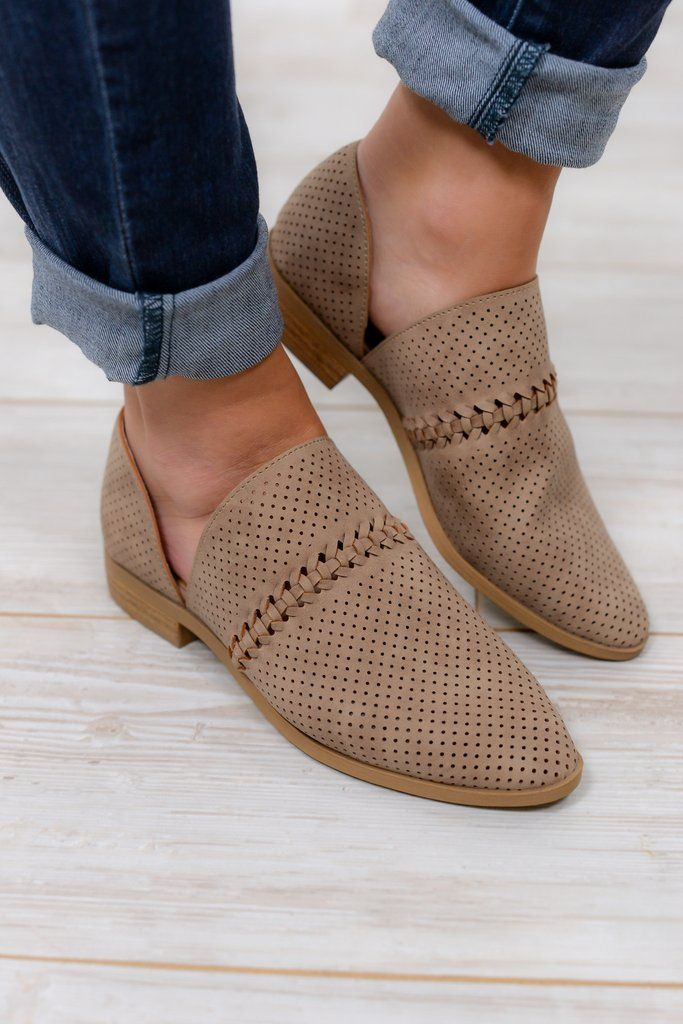 On Solid Ground Taupe Shoes - SHO299TA
