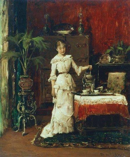 Munkácsy Mihály (1844-1900) - Teát öntő nő