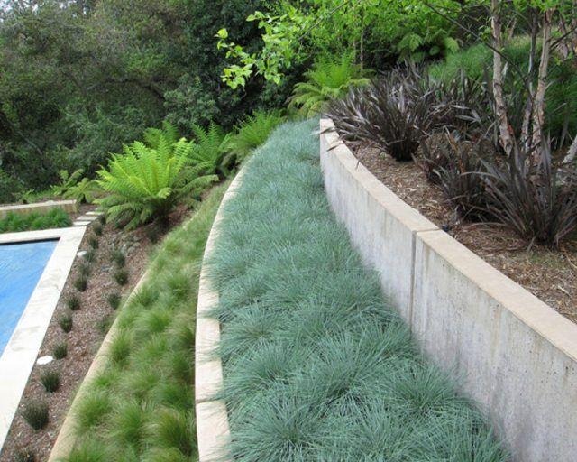 mur de jardin à étages