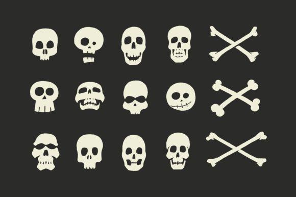 Vector Skulls & Crossbones Illustrations