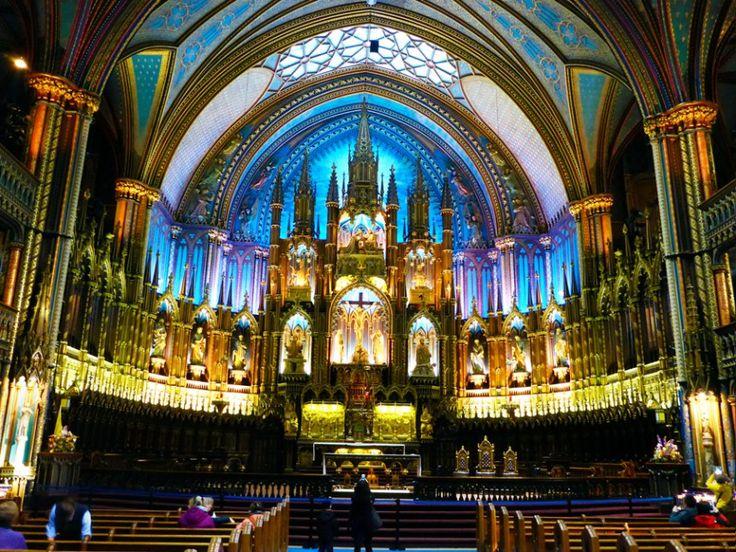 あの有名人も結婚式を挙げたノートルダム大聖堂/カナダ・モントリオール