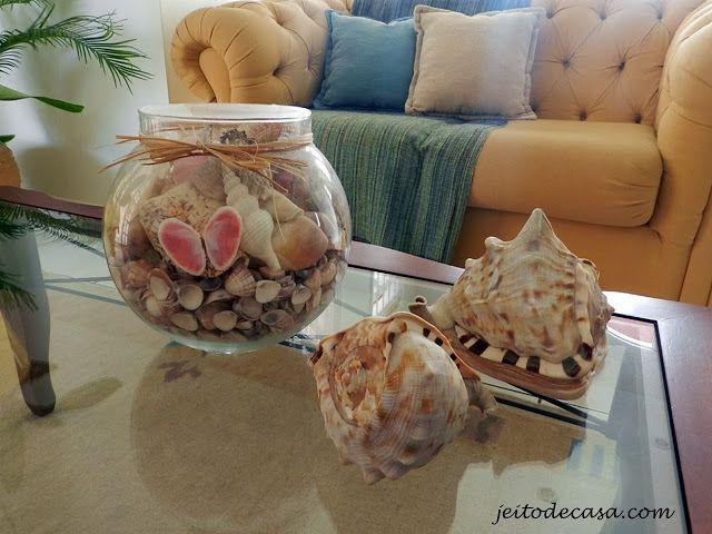 conchas na decoracao