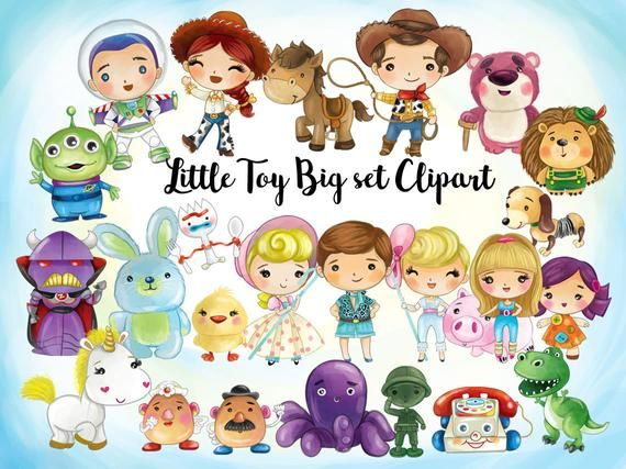 Limited Big Set Of Little Toy Clipart Instant Download Png File 300 Dpi In 2021 Clip Art Cute Monsters Monster Clipart