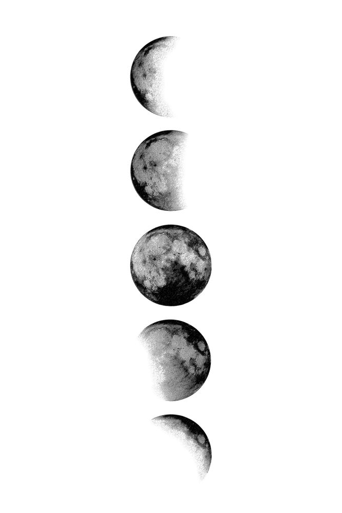 Moon Phases Framed Art Print By Nordik Vector Black Medium Gallery 20x26 Black And White Photo Wall Black And White Picture Wall Moon Wall Art