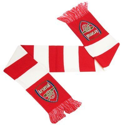 Arsenal FC - Official Crest Bar Scarf by Arsenal. $18.98. We buy our Arsenal soccer scarves direct from the club's representatives in the UK. All Arsenal scarves come in official Arsenal FC packaging with hologram and/or bar codes.
