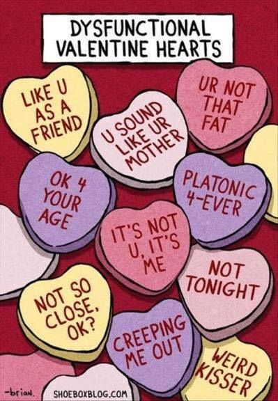 ''Dysfunctional Valentine Hearts'' source: Single Dad Laughing
