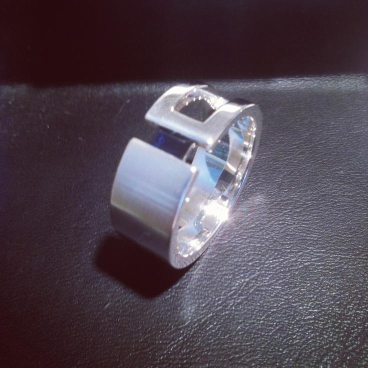 Men's sapphire dress ring