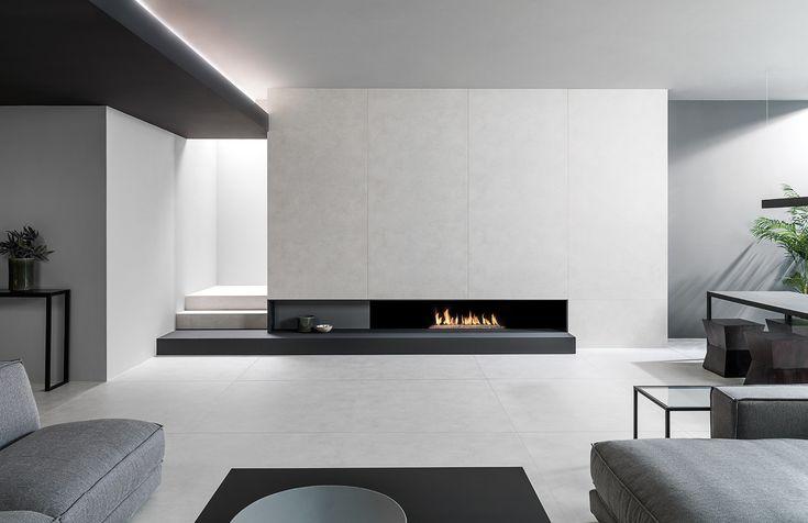 STARK, la nueva generación de porcelánico de gran formato XLIGHT. Distintos tamaños y espesores con un ciclo productivo eco-eficiente a partir de un alto porcentaje de materia reciclada. Descubre las novedades URBATEK - PORCELANOSA Grupo en la XXIV Muestra Internacional de #Arquitectura Global & #Diseño Interior. - #PorcelanosaExhibition #Concrete #Home #Inspiration #Fireplace #Tiles #Living #Home