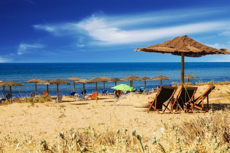 The beach Chalikouna - a huge sandy expanse, between the sea and Lake Korission, in the southwestern part of the island. https://greece.terrabook.com/corfu/page/chalikounas-beach #Greece #Corfu #terrabook #GreekIslands #TravelTips #Travel #GreeceTravel #GreekPhotos #Traveling #Travelling #Holiday #Summer