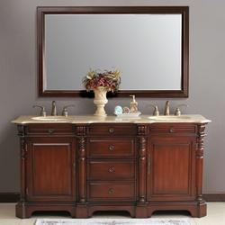 Bathroom Vanities   Cambridge Double Bathroom Vanity By Virtu    KitchenSource.com