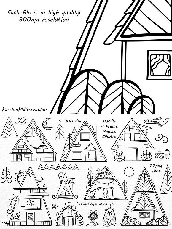 Doodle A Frame Houses Clipart House Clipart Doodles House Doodle
