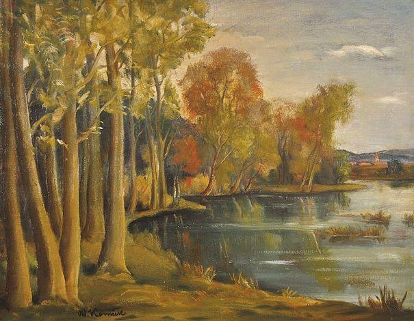 Večer nad rybníkem