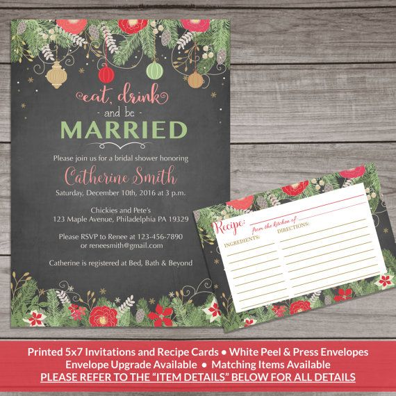 Best 25+ Christmas bridal showers ideas on Pinterest Bride party - office bridal shower invitation wording