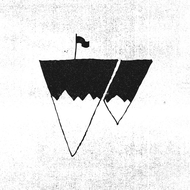 upside down icebergs