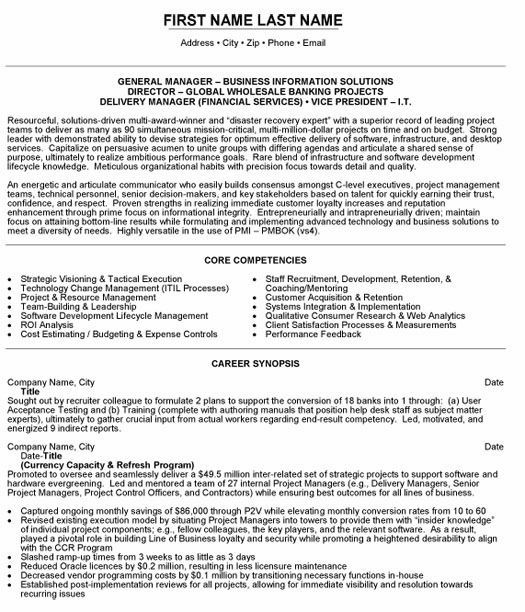 Monster.com Top Banking Resume