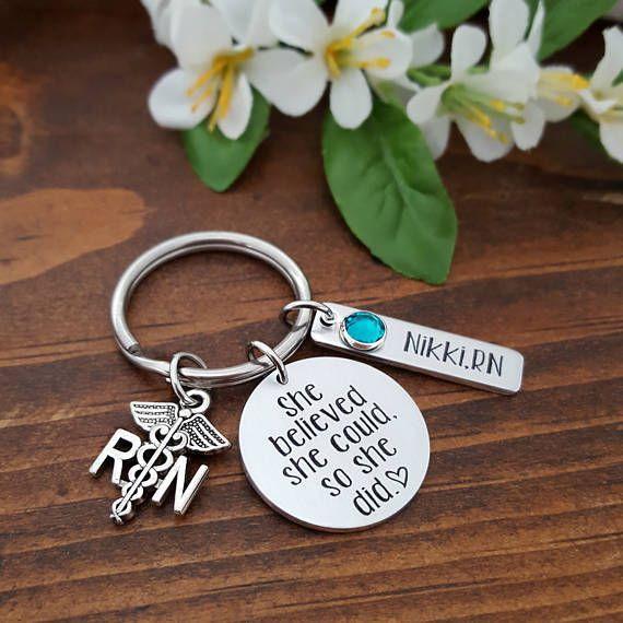 RN Key Chain | Nurse Gift | Nurse Key Chain | Nurse keychain | RN Gift | Nursing Student | Nurse Graduation | Registered Nurse Gift | RN $24.00 #nursing #gifts #affiliate