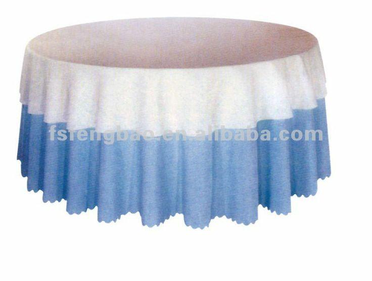 Factory Price Nice Wedding Round Table Cloth/decorative Round Table  Cloth/fancy Wedding Table
