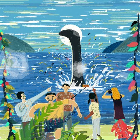 Making a splash #editorial #illustrations #artwork #artist #painting #artistsofinstagram #illustratorsoninstagram #illustratorsofinstagram #freelance #commission #photoshop #seaside #beach #scene #people