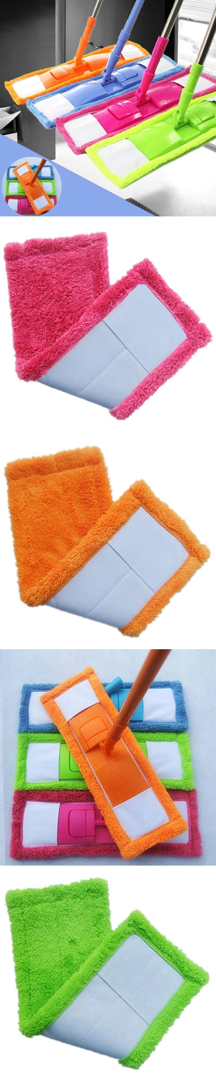 Saingace Dust Mop Head Replacement Home Cleaning Pad Coral Velet Refill Household Use Colorful Mop Head Happy Sale ap602