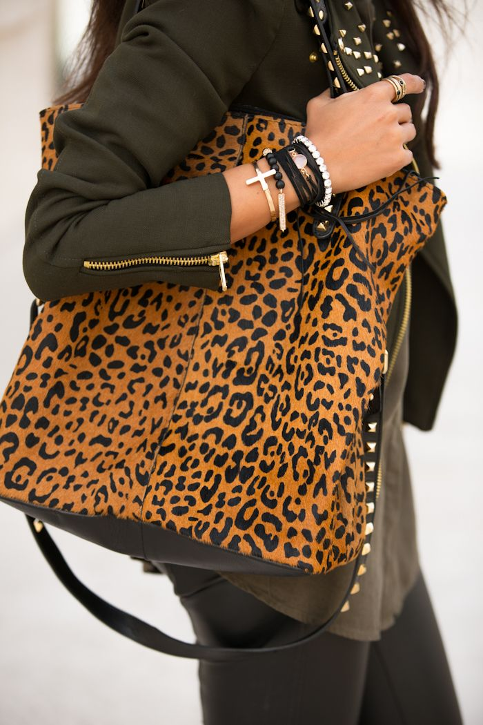 fc5f07dd02955a VIVALUXURY: SPOTS & STUDS | // S T Y L E | Fashion, Bags, Leopard bag