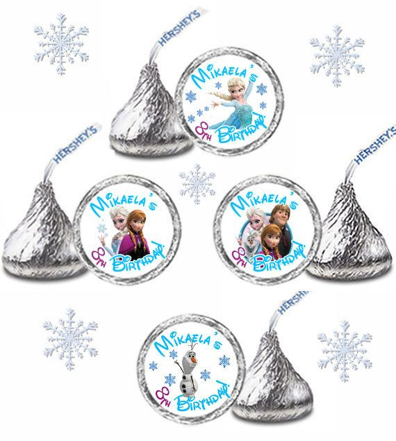 216 Personalized FROZEN Birthday Party FAVORS By FavorsonOccasion2