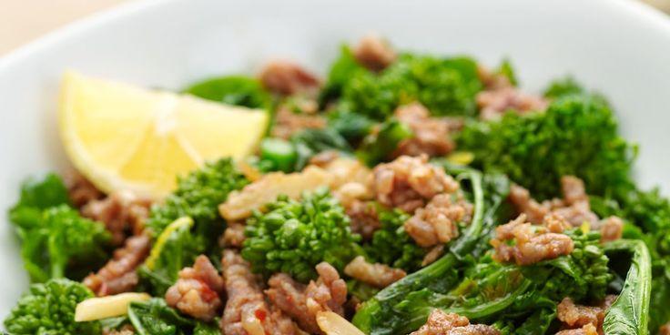 26. Broccoli Rabe with Hot Italian Sausage