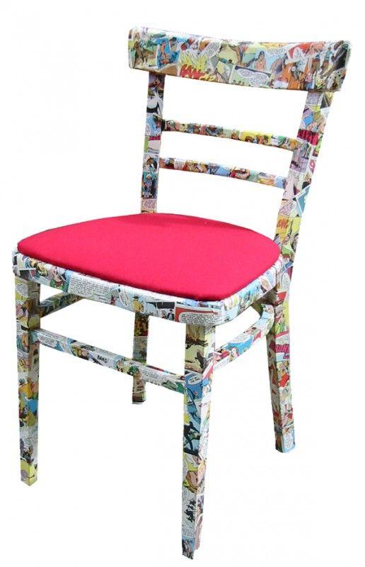 Decorare vecchie sedie: decoupage a fumetto