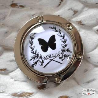 shabbyflair - Praktischer dekorativer Taschenhalter, den Frau immer dabei haben sollte