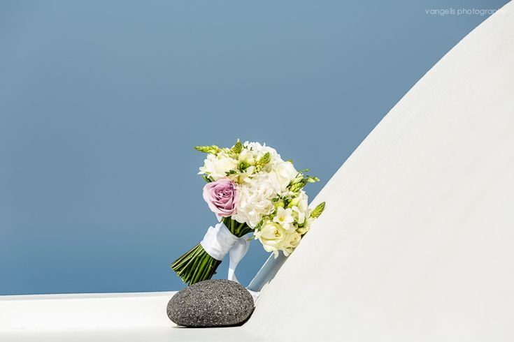 "Olga and Fabrizio's destination wedding in Santorini- Flower Creations and Decoration: ''Wedding Wish Santorini'' (www.facebook.com/... Wedding Planner: ""Poema Weddings & Special Events in Santorini - Event Specialists in Greece"""
