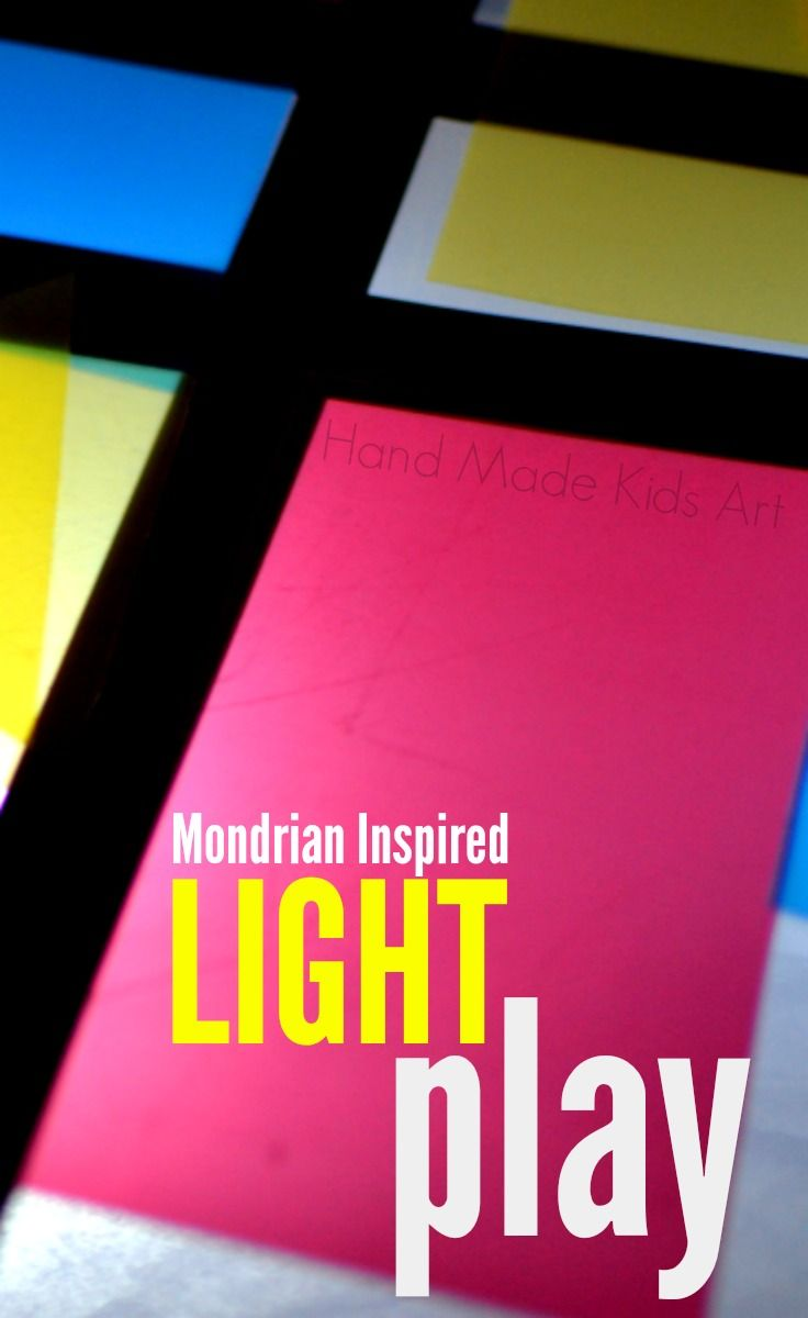Kids Light Box- Led lights, black electrical tape and translucent colored plastic file folders cut into shapes