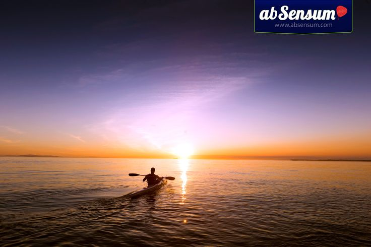 A #sunset admired from the #sea is a true joy for the heart. #kayak