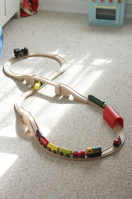 We love wooden toys and this cheap ikea wooden train set rocks