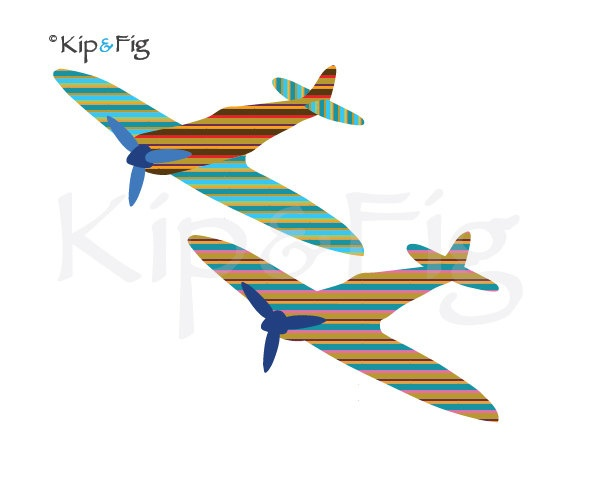 Spitfire airplane applique template - pdf applique pattern. £2.00, via Etsy. © Kip & Fig 2012