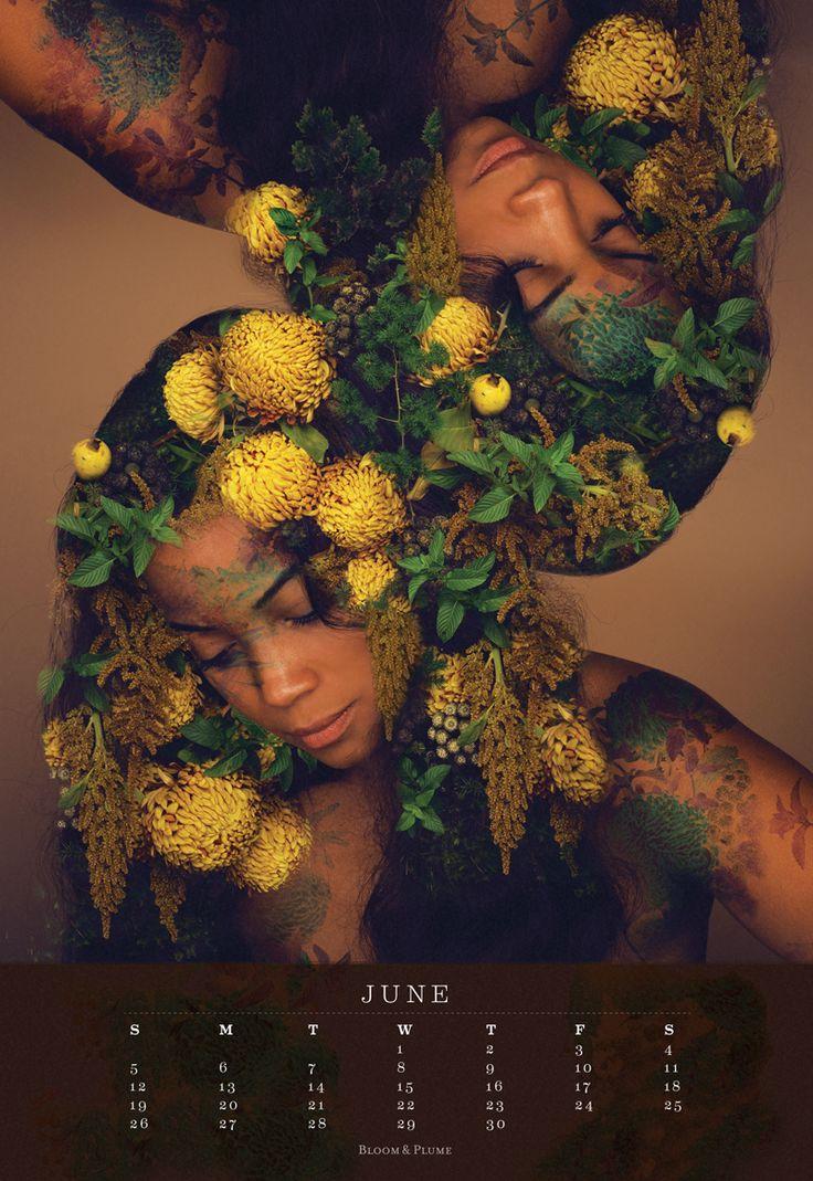 Bloom & Plume Vol. 1 'Shades of Blackness' 2016 Calendar