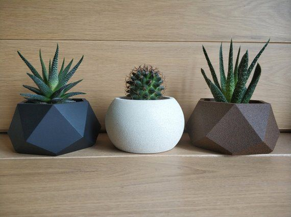 Gypsum Pot Unique Flower Pots Black Plant Pot Geometric Flower Pots Hexagon Pots Black Pots For Succulents In 2020 Flower Pots Unique Flower Pots Plant Pot Diy