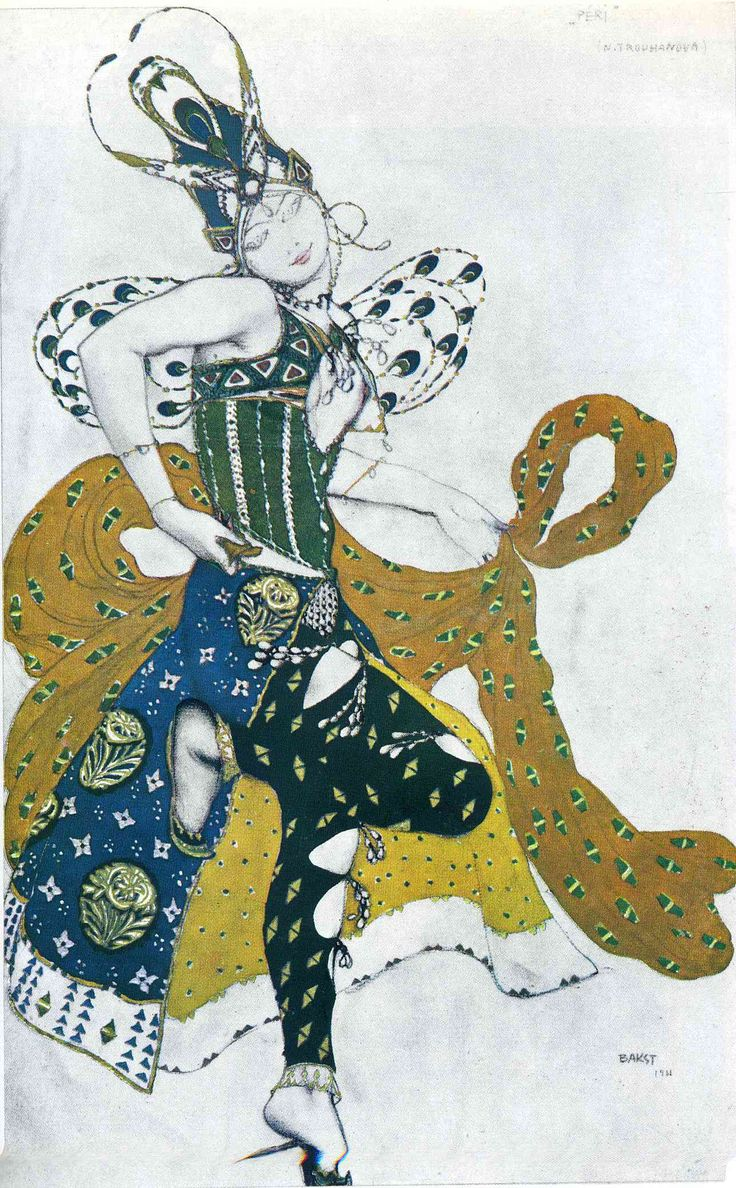 Sketch for the ballet 'La Peri', by Paul Dukas - Leon Bakst