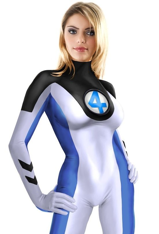 Female superhero cosplay nude invisible woman