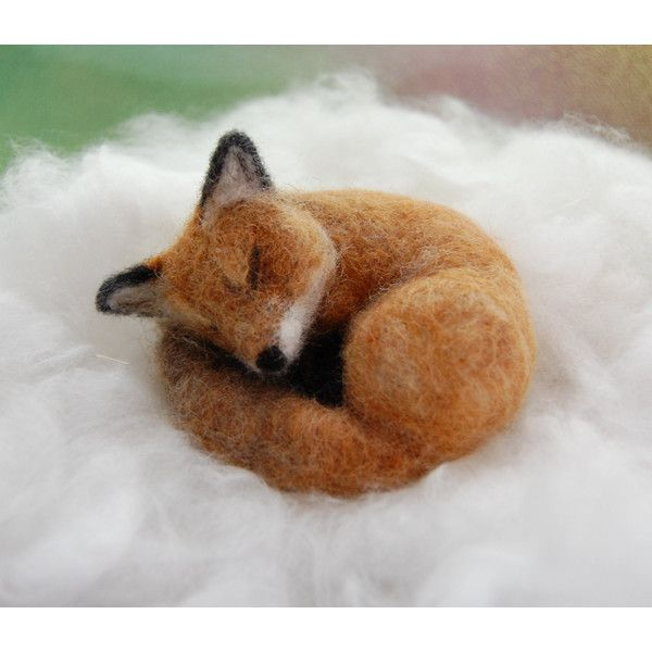 Needle Felted Fox, Red Fox Felted, Foxes Forest Animal, Needle Felted... (2.325 UYU) ❤ liked on Polyvore featuring home, home decor, red home decor, fox home decor, red home accessories, animal sculptures and hand sculpture