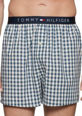 Tommy Hilfiger Men's Men's Woven Boxers - Blue Dawn - Xl